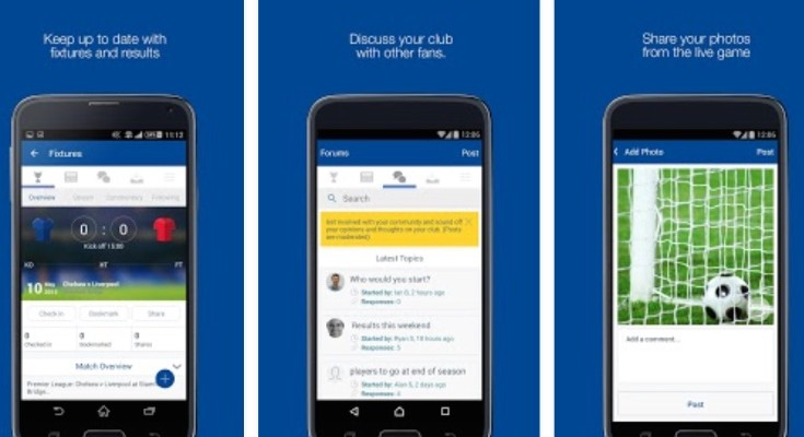 Chelsea FC fan app updated before Southampton clash