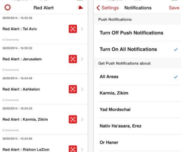 Color Red Alert Israel app