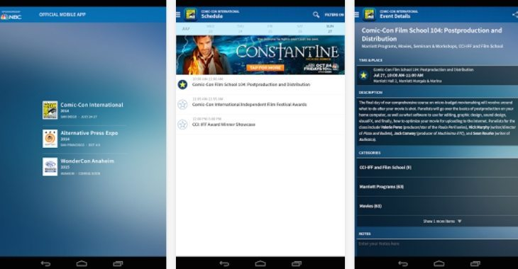 Comic Con app Android and iOs
