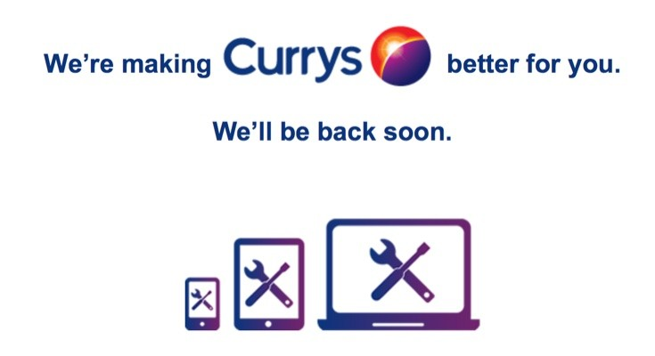 Currys and PC World websites both currently down