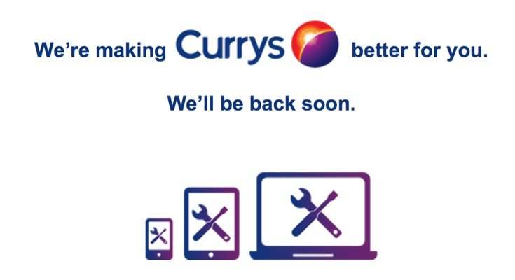 Currys and PC World websites both down