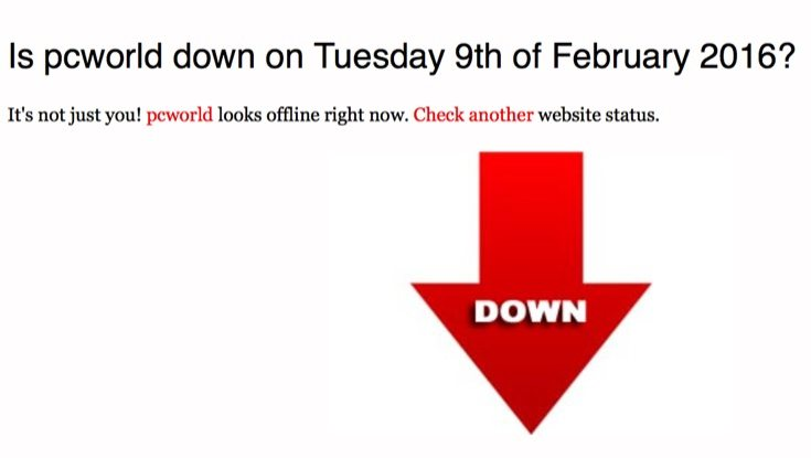 Currys and PC World websites down b