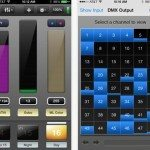 DMX lighting control with iPhone Luminair app