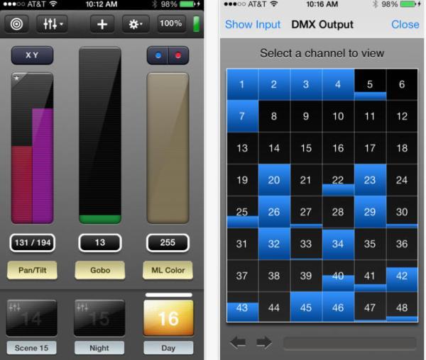 dmx lighting control with iphone luminair app. Black Bedroom Furniture Sets. Home Design Ideas