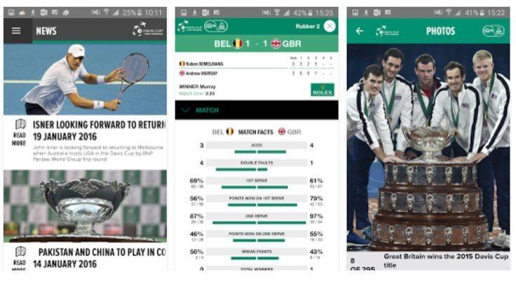 Davis Cup official app