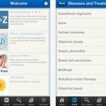 Dermatology A-Z app for skin health information