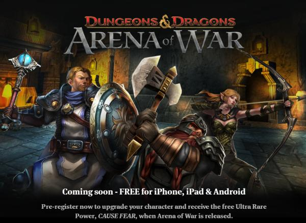 Dungeons & Dragons Arena of War Pre-register for Android, iOS