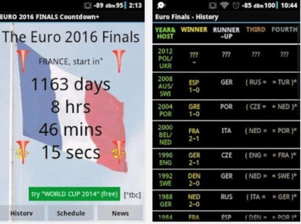 Euro 2016 draw news and more with countdown app