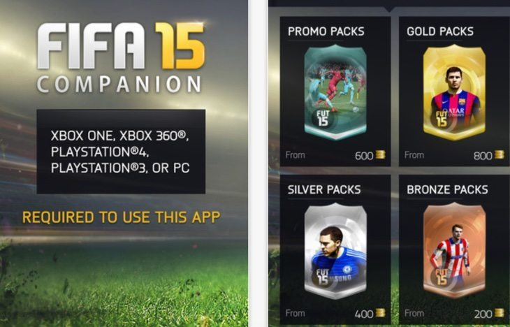 FIFA 15 Companion app transfer problems since update