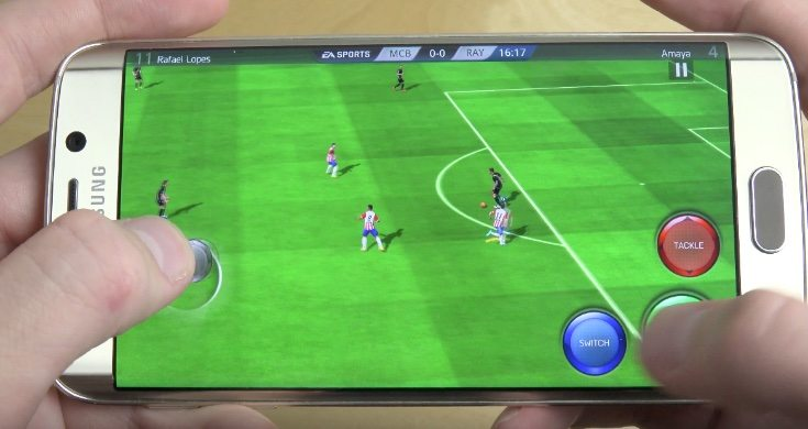 FIFA 16 Ultimate Team review of gameplay on the Galaxy S6 Edge