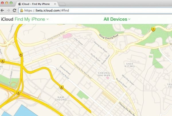 Find my iPhone beta uses Apple Maps, not Google