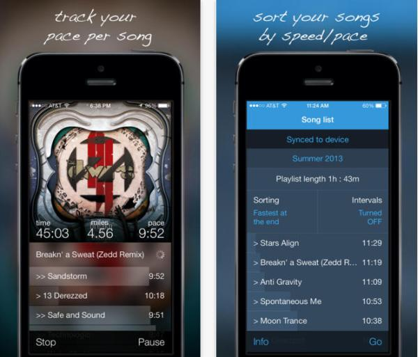 Free fitness app for iPhone matches music to your speed