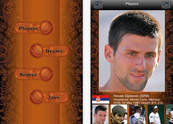 French Open tennis apps new for 2013 with live scores