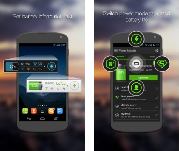 GO battery saver and power widget download for Android