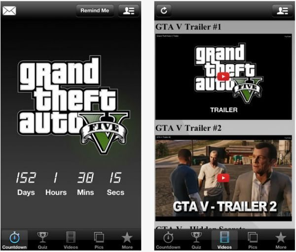 GTA 5 Edition countdown for iOS devices