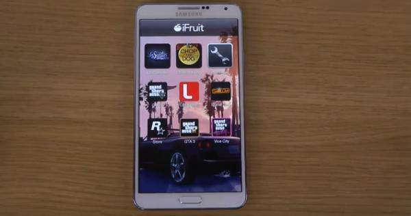 GTA 5 iFruit app video review on Note 3