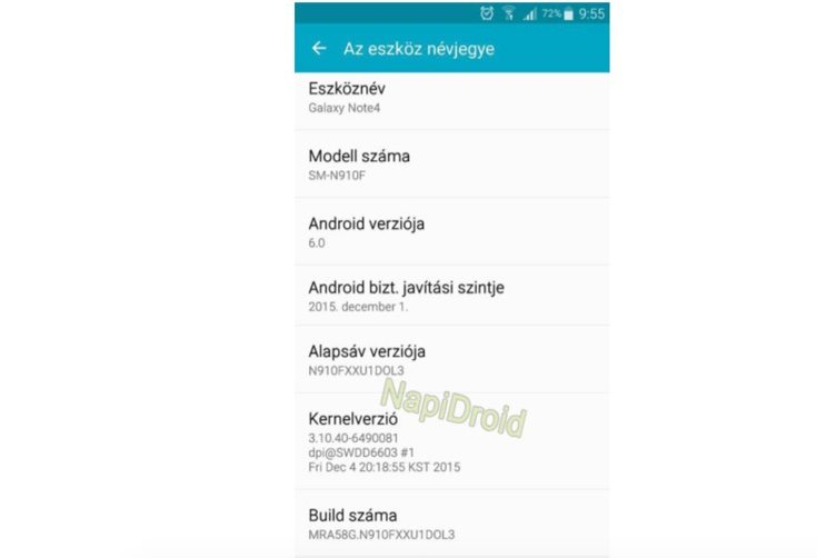 Galaxy Note 4 Marshmallow update arriving