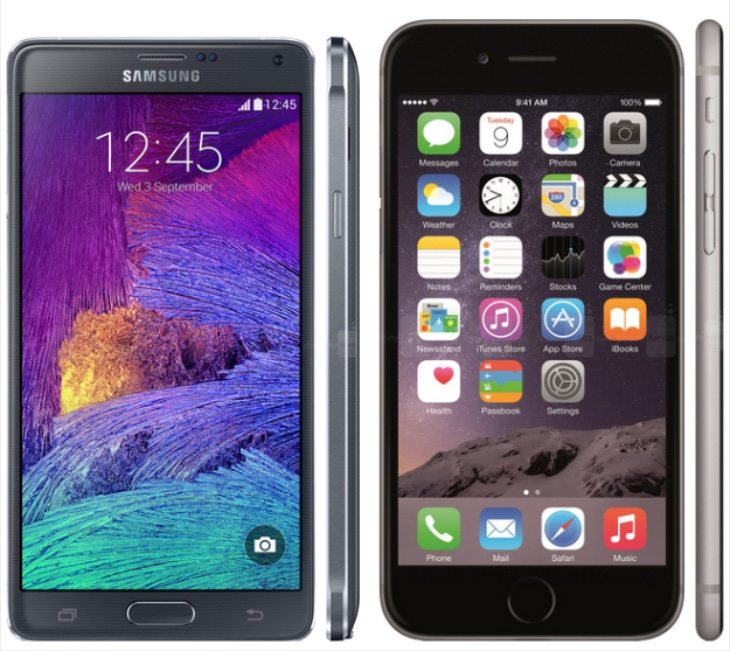 Galaxy Note 4 vs iPhone 6 Plus color b