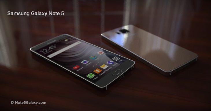 Galaxy Note 5 renders