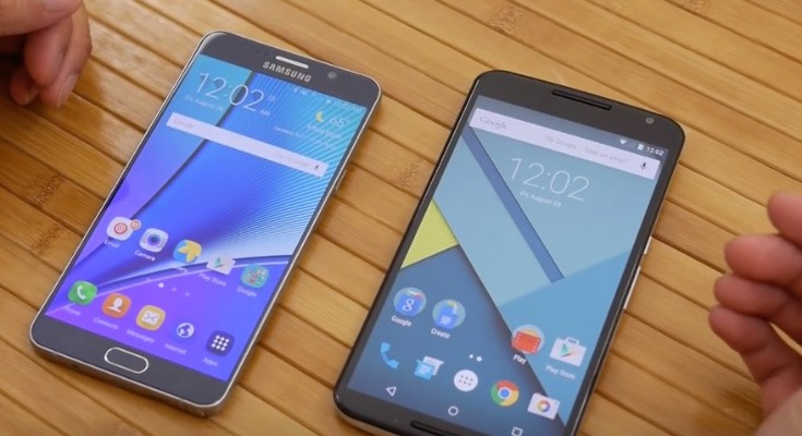 Galaxy Note 5 vs Nexus 6