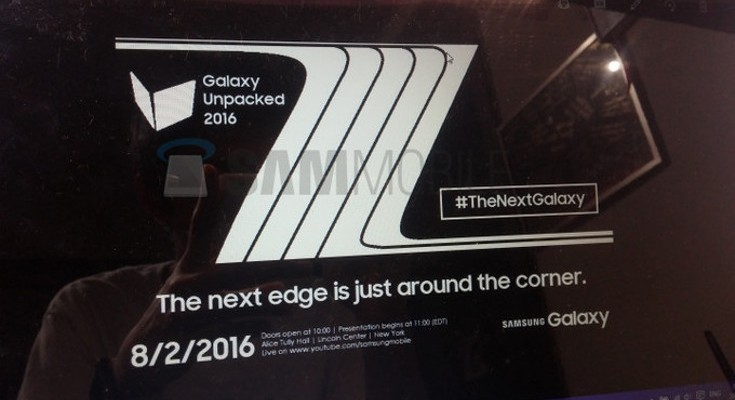 Samsung Galaxy Note 7 Launch Date Revealed by Unpacked Invite?
