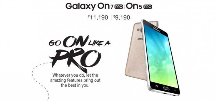 Galaxy On5 Pro and On7 Pro Released by Samsung in India