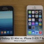 Galaxy S3 Mini vs. iPhone 5 on iOS 7 beta 2