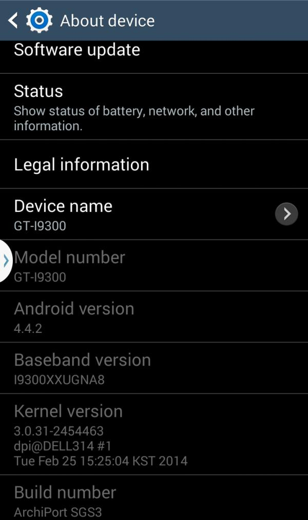 Galaxy S3 gets Android 4.4 KitKat update, sort of