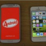 Galaxy S4 4.4 KitKat vs. iPhone 5 iOS 7.1 Beta 2 speed test