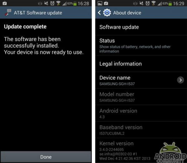Galaxy S4 Active Android 4.3 AT&T update discussion