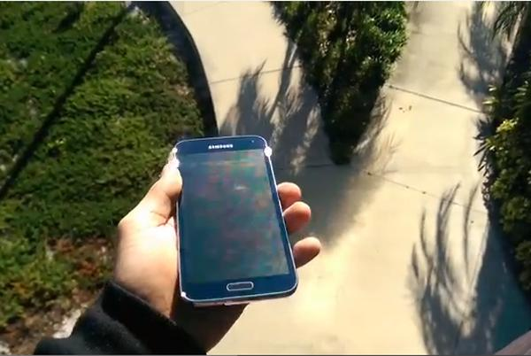 Galaxy S5 drop test taken to the extreme