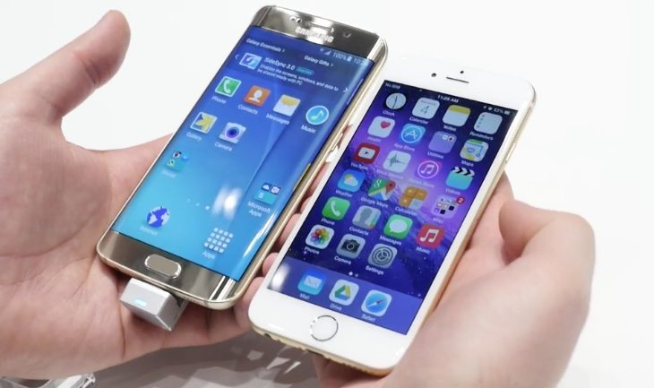 Galaxy S6 Edge vs S5 vs iPhone 6 b