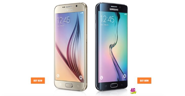 Samsung Galaxy S6 and Edge pricing and plans at Carphone Warehouse