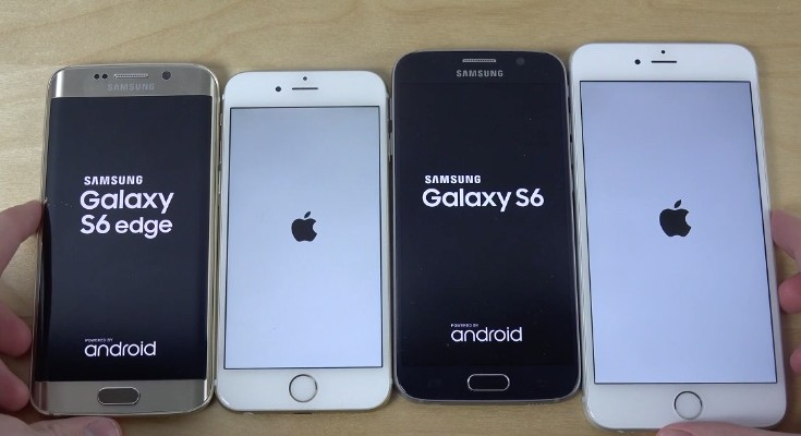 Galaxy S6 vs S6 Edge, iPhone 6, 6 Plus in tests