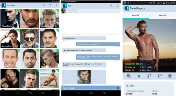 Gay.com Android chat, dating app for guys