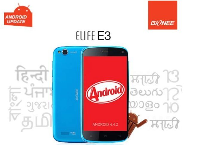 Gionee Elife E3 Android 4.4 KitKat update arrives