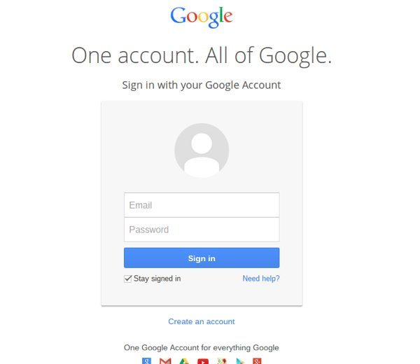 Gmail login consistent with new Google Apps sign-in