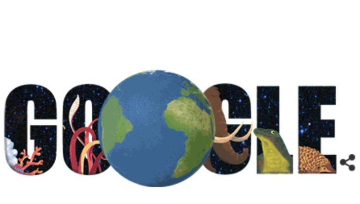 Earth Day Quiz offered by celebratory Google Doodle