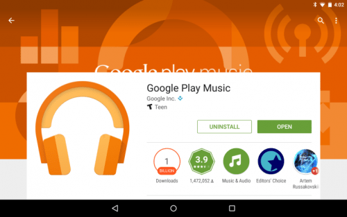 Google Music Play update