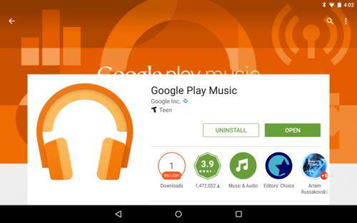 Google Music Play update