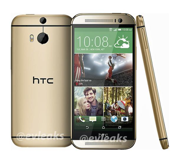 HTC One 2014 press image emerges in gold