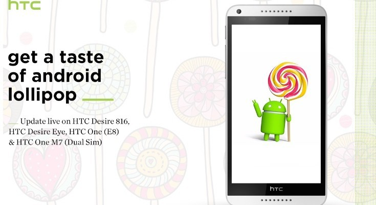 HTC One M7 Dual SIM, One M8 and Desire Eye Lollipop updates live for India