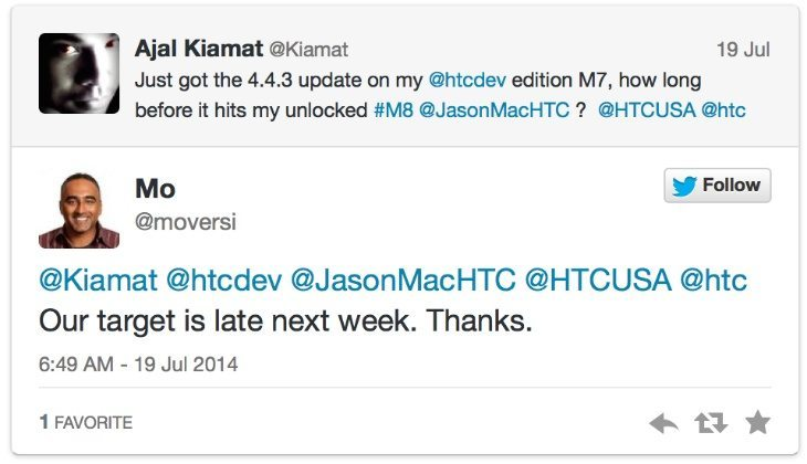 HTC One M8 Android 4.4.3 update has 4.4.4 fixes ...