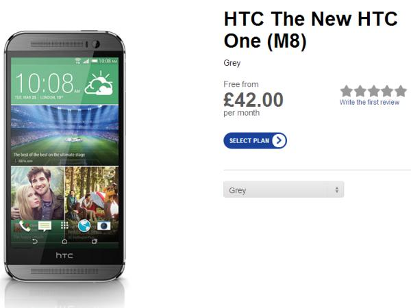 HTC One M8 Phones 4 u pricing revealed