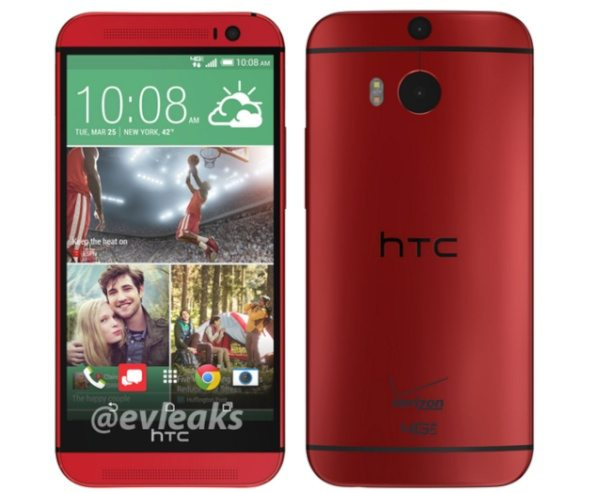 HTC One M8 in Red pictured for Verizon