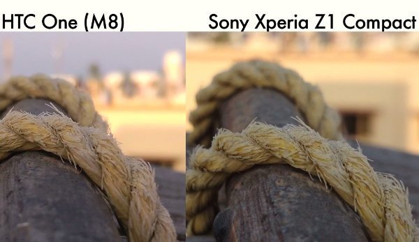 HTC One M8 vs Sony Xperia Z1 Compact camera results