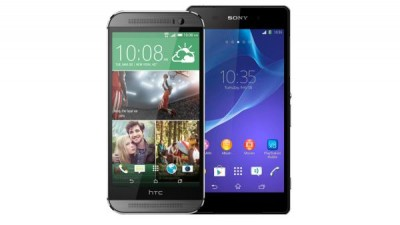HTC One M8 vs Sony Xperia Z2 speaker comparison