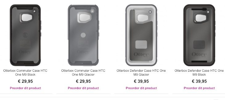 HTC One M9 Otterbox cases hit the scene