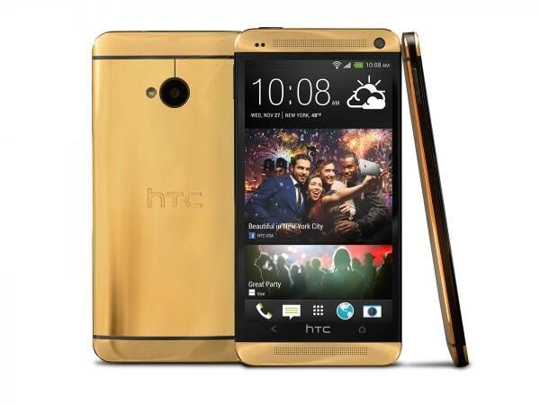HTC One in real 24 carat gold to be won in free draw