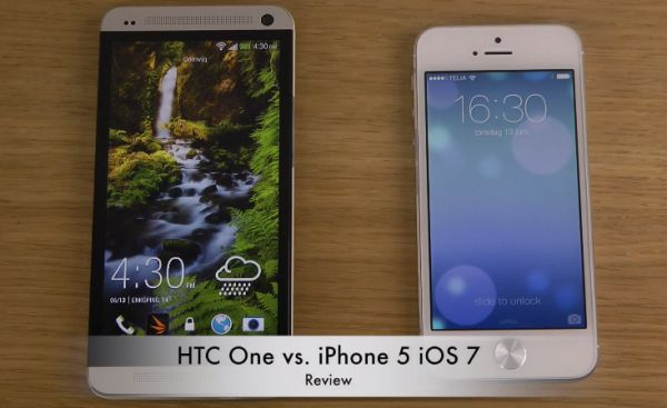 HTC One vs. iPhone 5 iOS 7 - Review